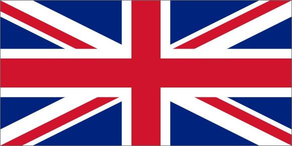 Flaga Wielkiej Brytanii - język angielski